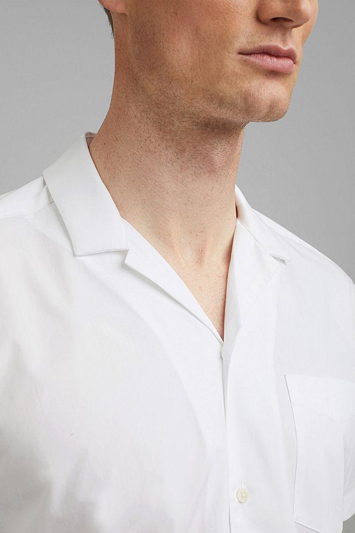 Kurzarm-Hemd aus 100% Pima Baumwolle, WHITE, detail image number 2