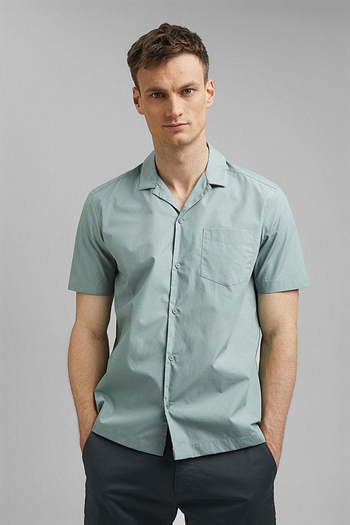 Camisa de manga corta en 100% algodón Pima, DUSTY GREEN, detail image number 0