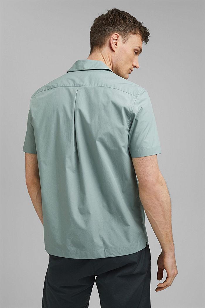 Camisa de manga corta en 100% algodón Pima, DUSTY GREEN, detail image number 3