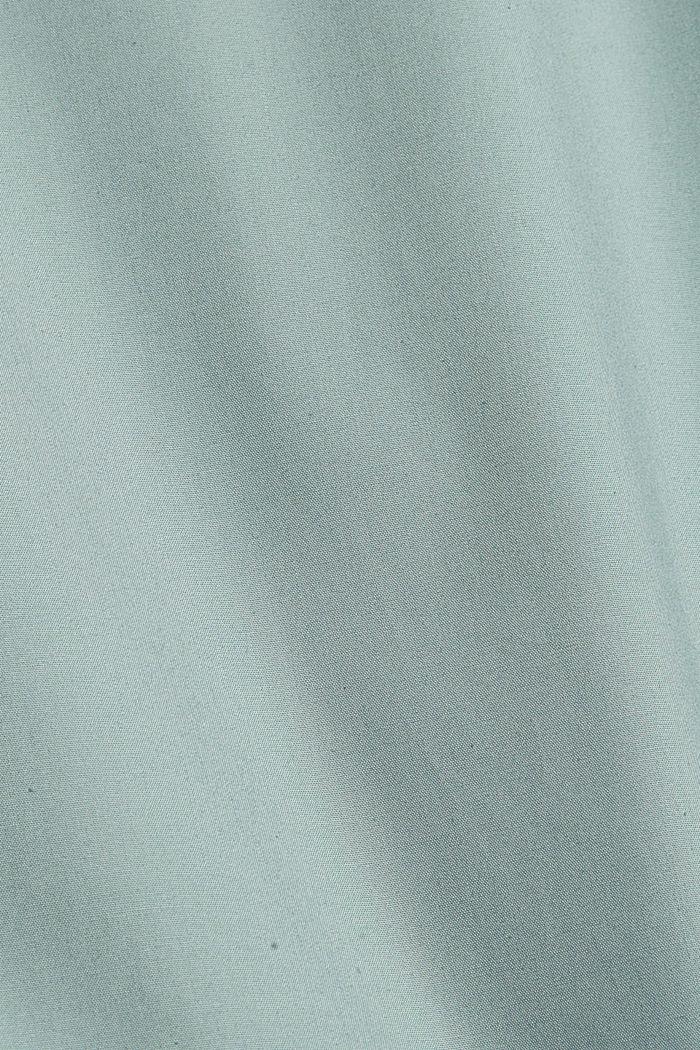 Camisa de manga corta en 100% algodón Pima, DUSTY GREEN, detail image number 4