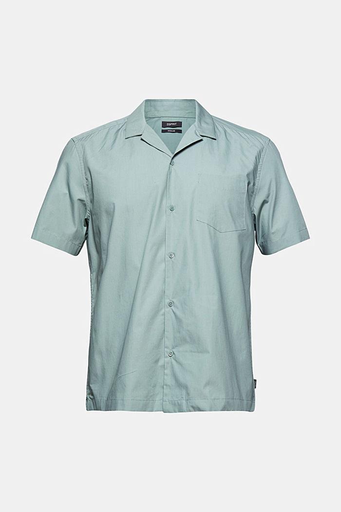 Camisa de manga corta en 100% algodón Pima, DUSTY GREEN, detail image number 6
