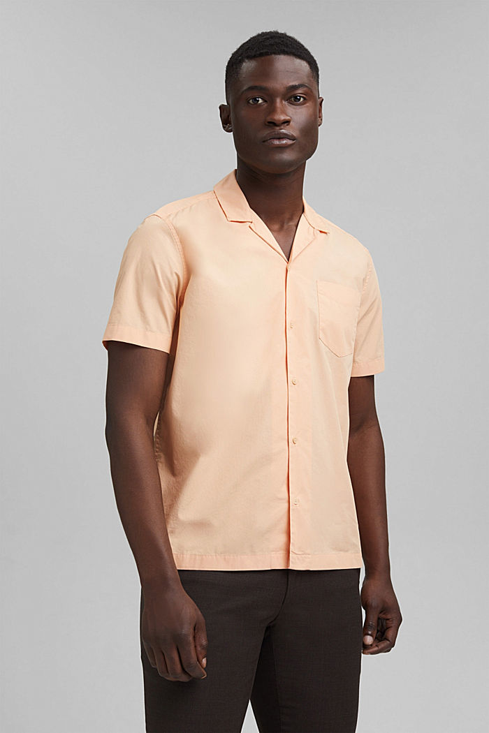 Short sleeve shirt made of 100% pima cotton, PEACH, detail image number 0