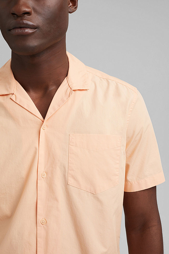 Short sleeve shirt made of 100% pima cotton, PEACH, detail image number 2