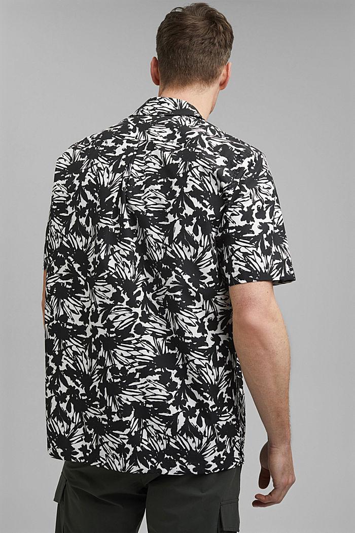 Chemise à manches courtes et imprimé 100% coton pima, ANTHRACITE, detail image number 3