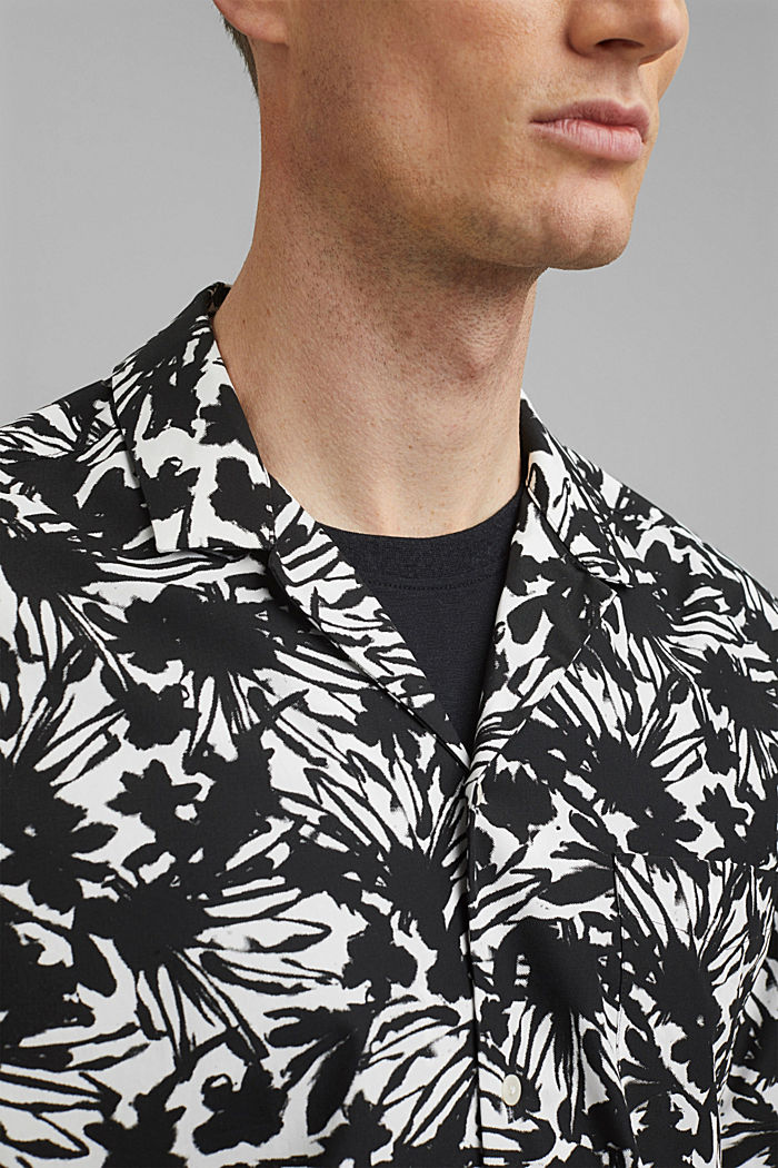 Chemise à manches courtes et imprimé 100% coton pima, ANTHRACITE, detail image number 2