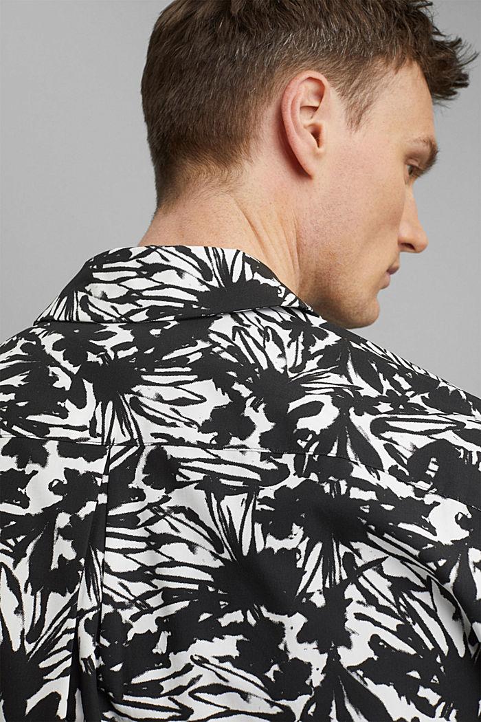 Chemise à manches courtes et imprimé 100% coton pima, ANTHRACITE, detail image number 6