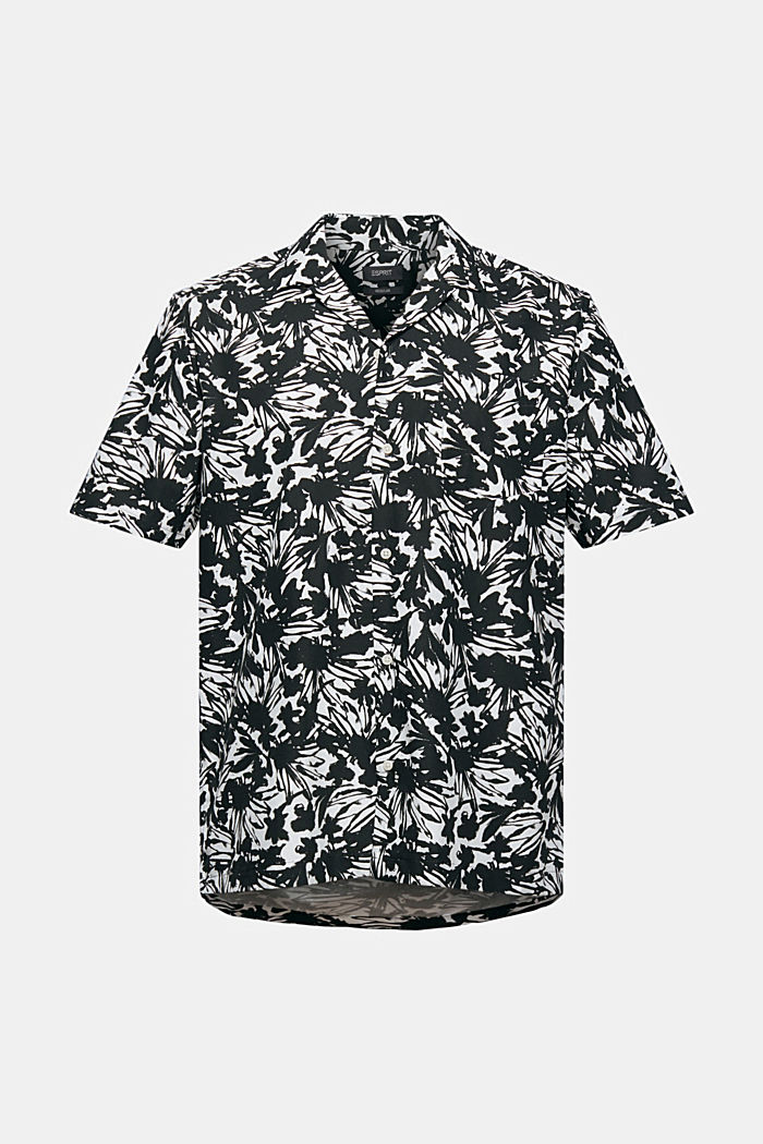 Short-sleeved shirt with a print, 100% pima cotton