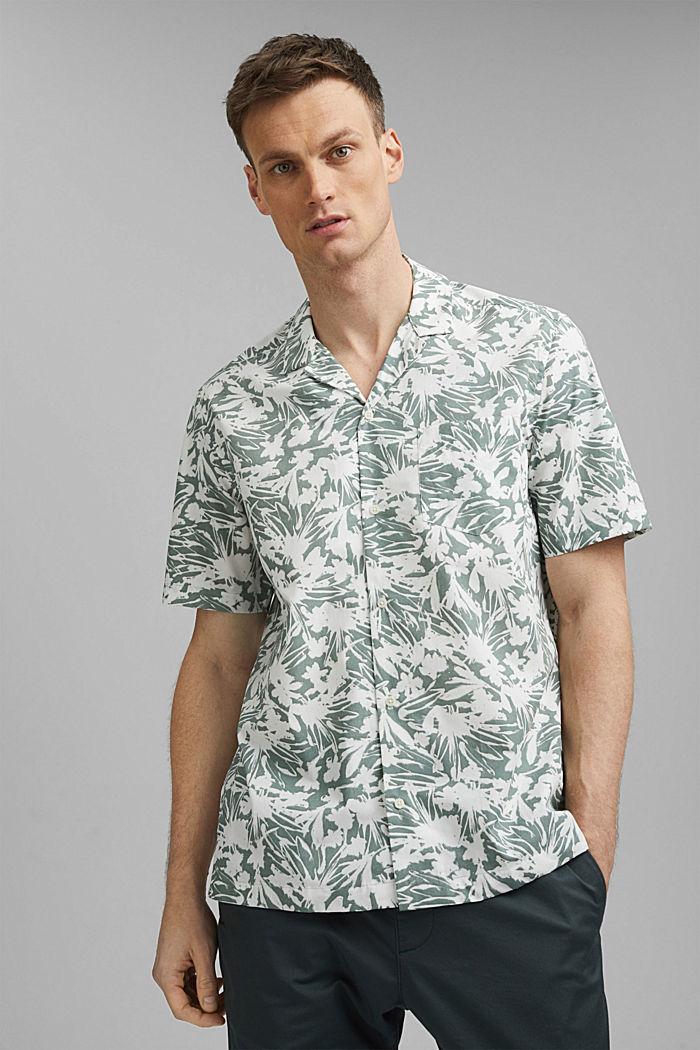 Kurzarm-Hemd mit Print, 100% Pima Baumwolle