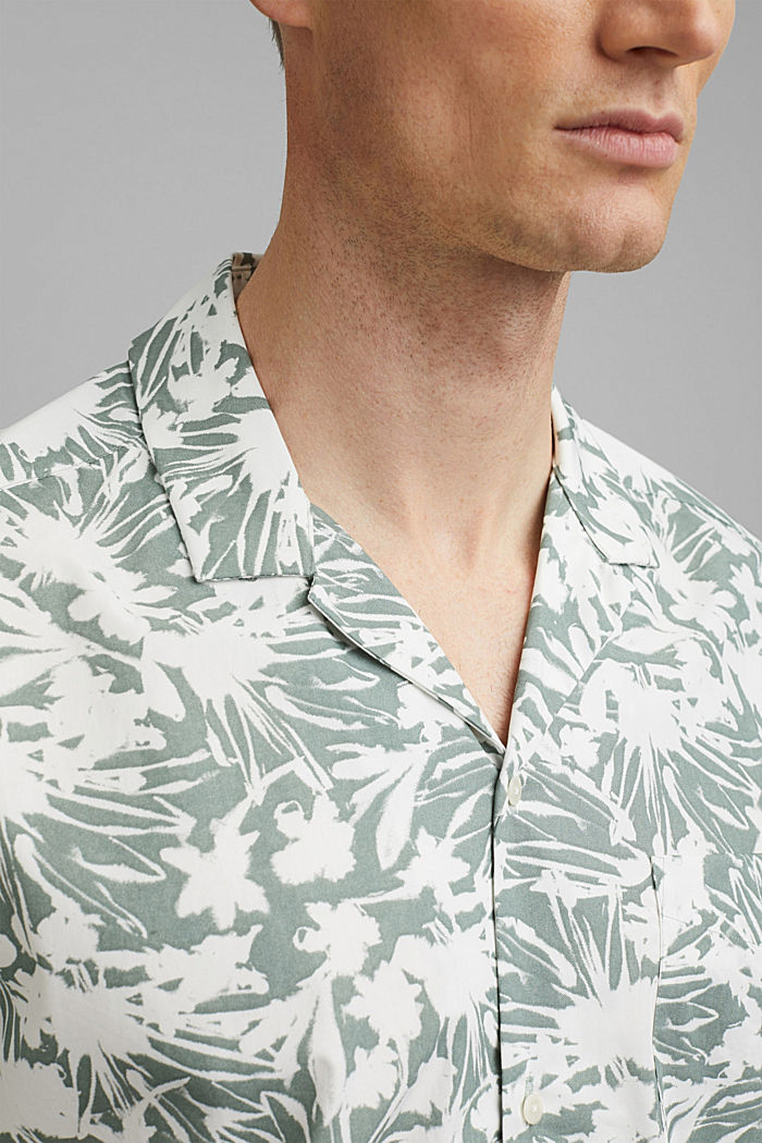 Kurzarm-Hemd mit Print, 100% Pima Baumwolle, DUSTY GREEN, detail image number 2
