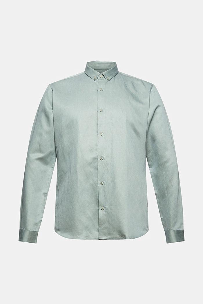 Met linnen: overhemd met buttondownkraag