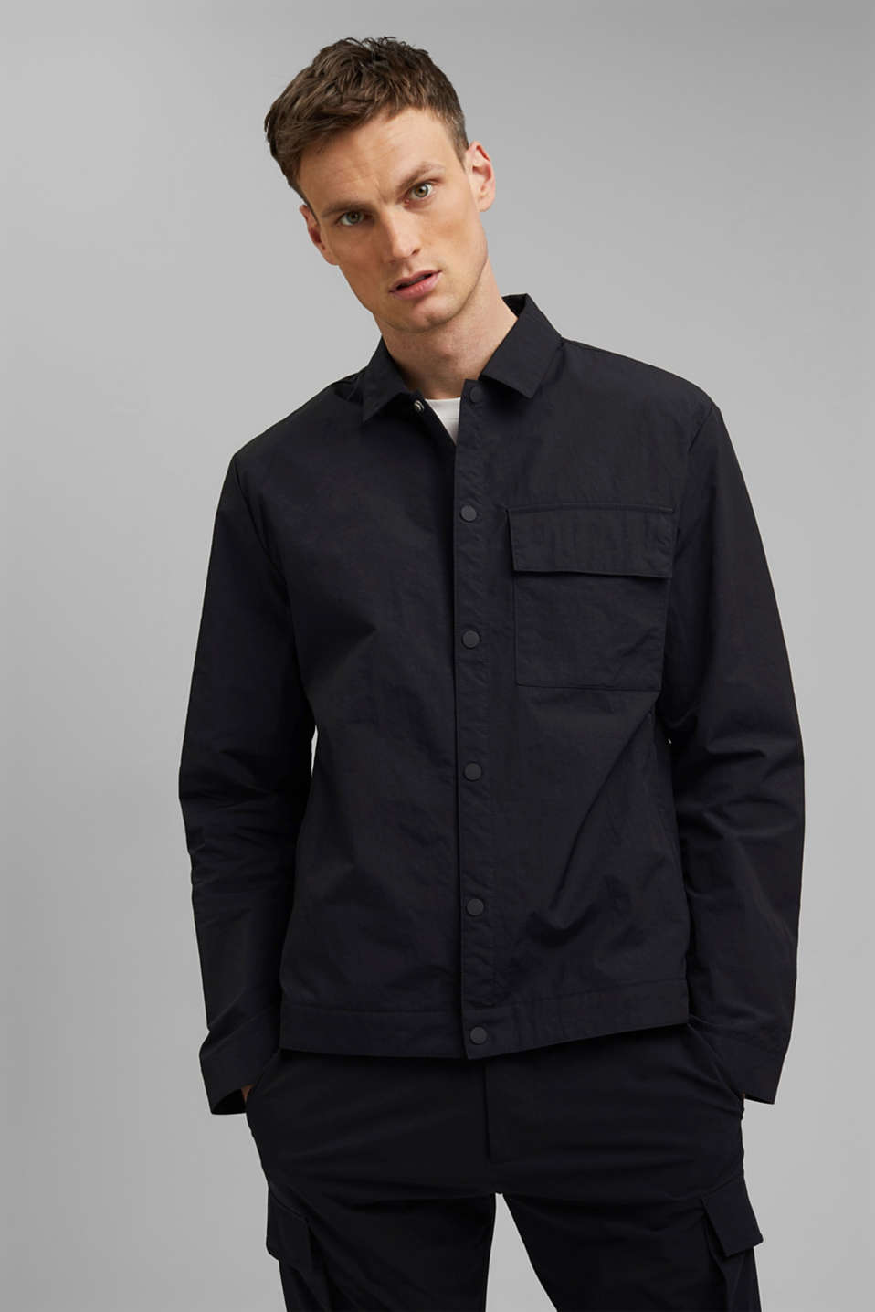Esprit - Water-resistant overshirt made of recycled material