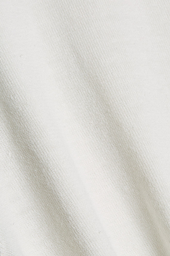 Aus Hanf/Bio-Baumwolle: Feinstrick-Polo, OFF WHITE, detail image number 4