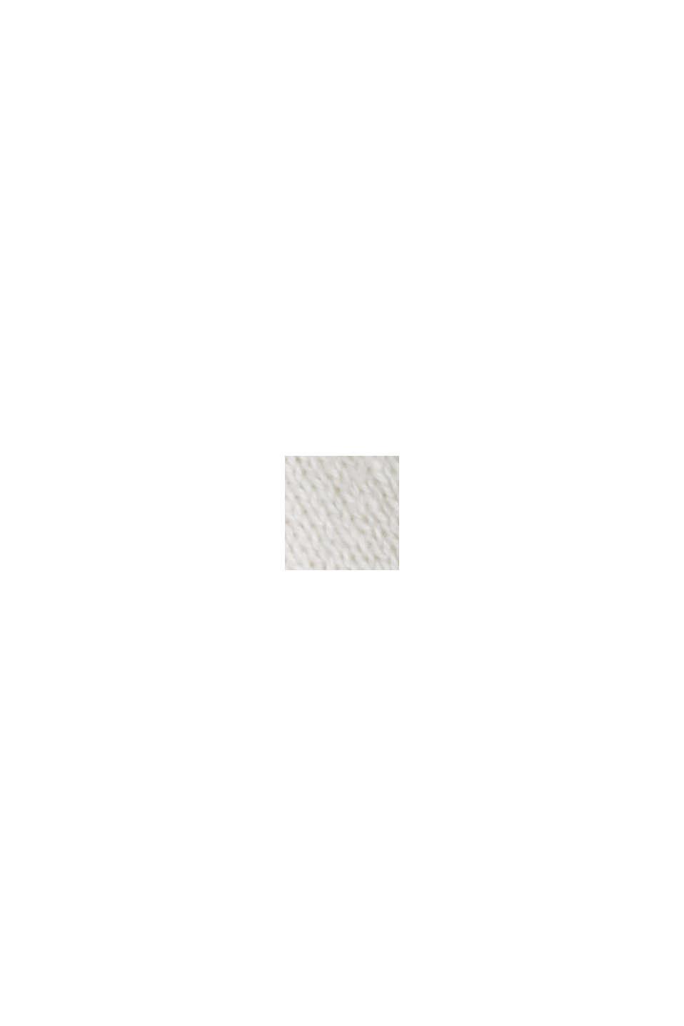 En chanvre/coton biologique: polo en fine maille, OFF WHITE, swatch