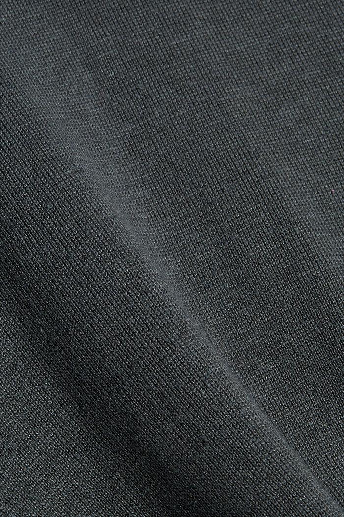 Aus Hanf/Bio-Baumwolle: Feinstrick-Polo, DARK TEAL GREEN, detail image number 4