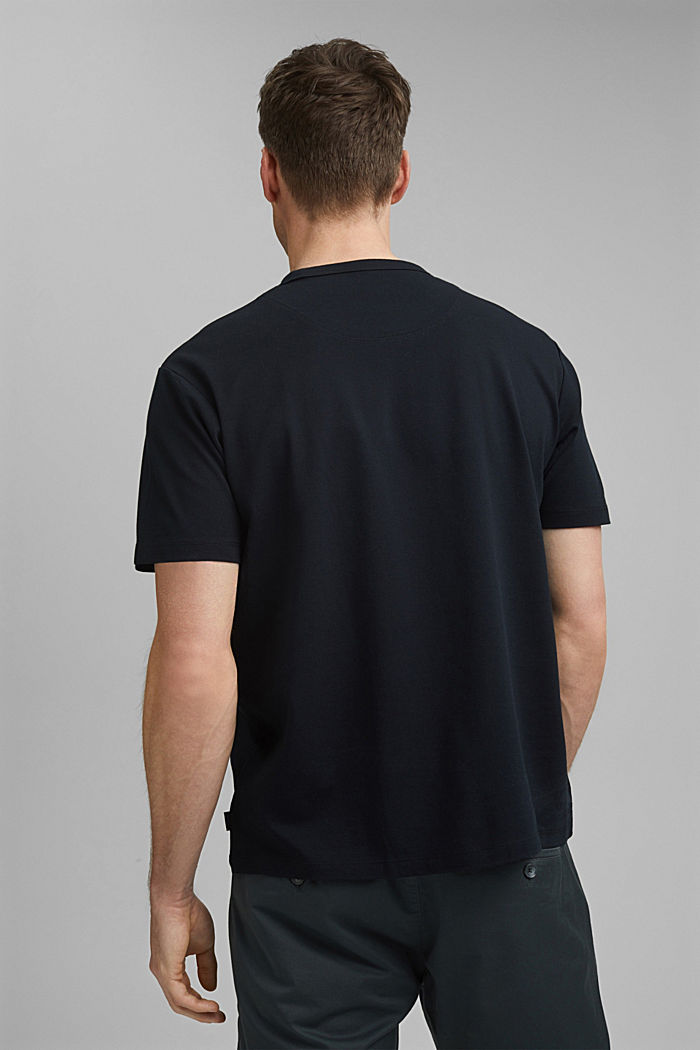 Premium-pikee-T-paita, 100 % luomupuuvillaa, BLACK, detail image number 3