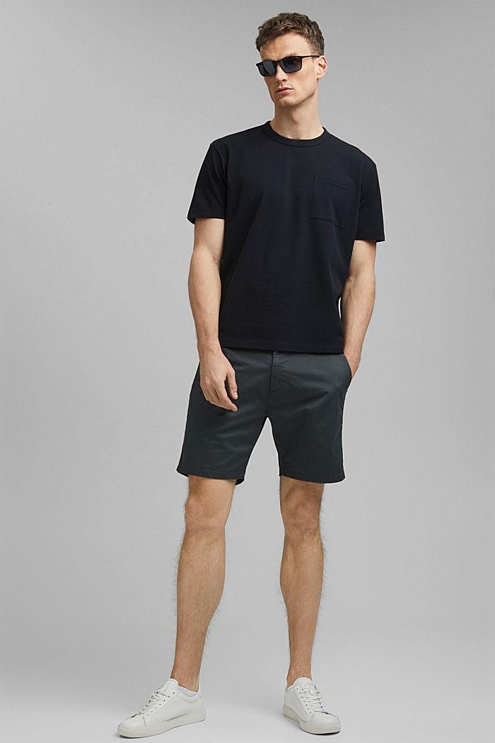 Premium-pikee-T-paita, 100 % luomupuuvillaa, BLACK, detail image number 2