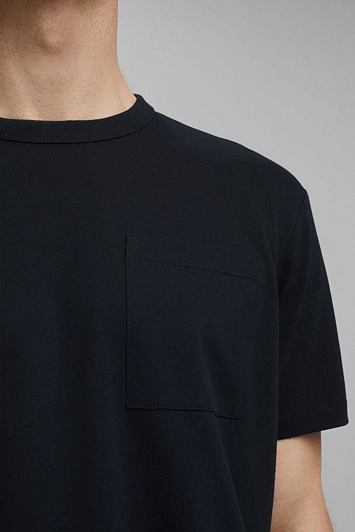 Premium Piqué-T-Shirt, 100% Bio-Baumwolle, BLACK, detail image number 1
