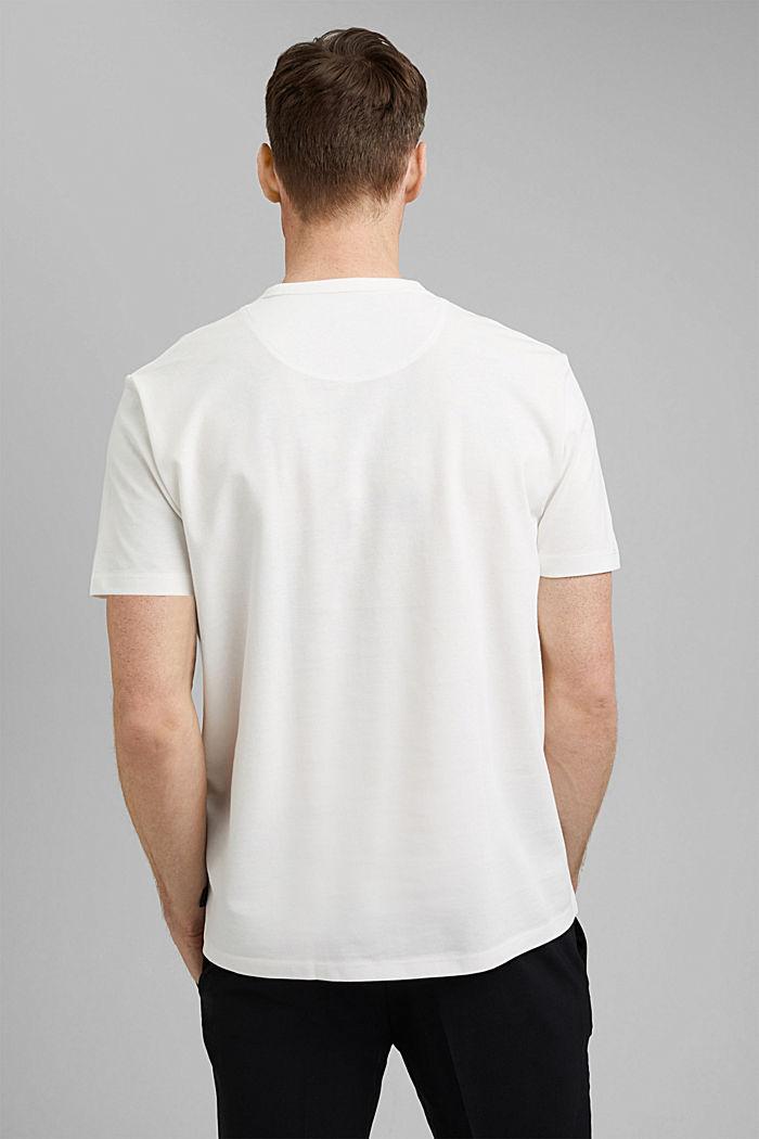 Premium Piqué-T-Shirt, 100% Bio-Baumwolle, OFF WHITE, detail image number 3