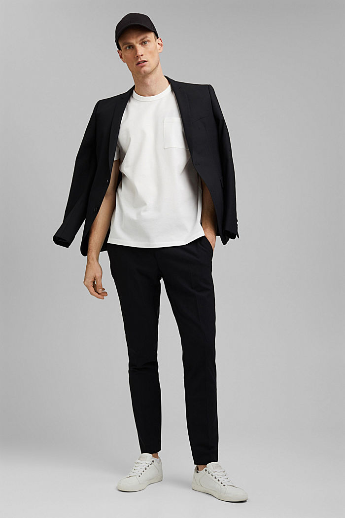 Premium Piqué-T-Shirt, 100% Bio-Baumwolle, OFF WHITE, detail image number 2