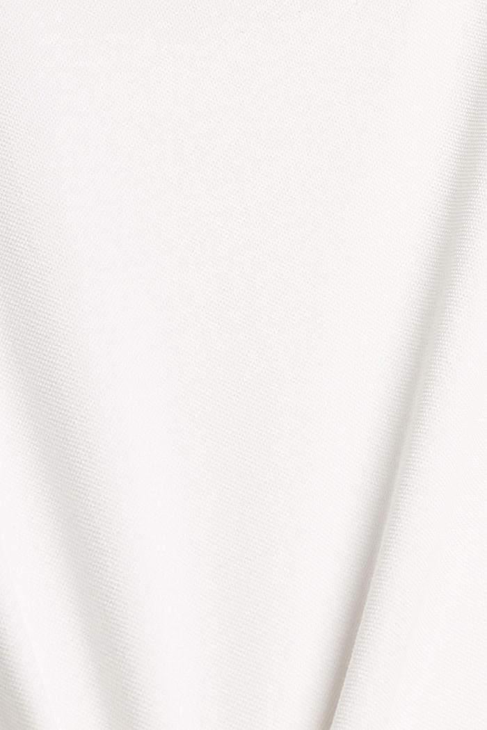Premium Piqué-T-Shirt, 100% Bio-Baumwolle, OFF WHITE, detail image number 5