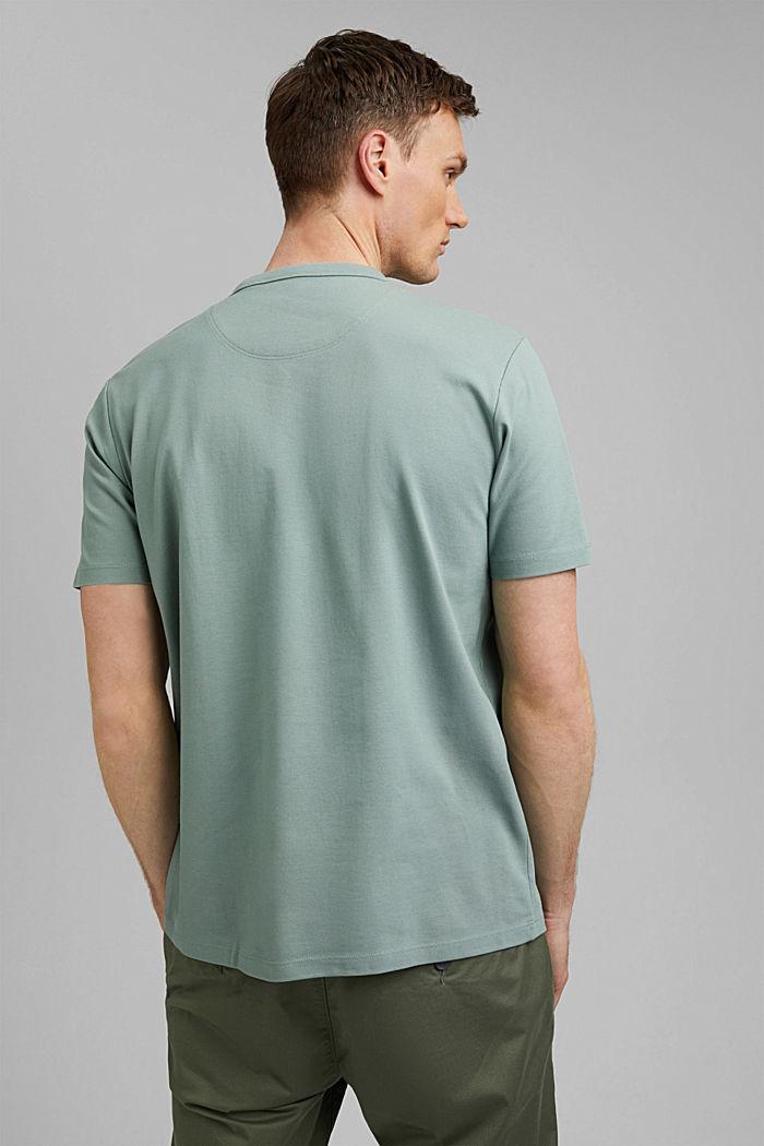 Premium Piqué-T-Shirt, 100% Bio-Baumwolle, DUSTY GREEN, detail image number 3