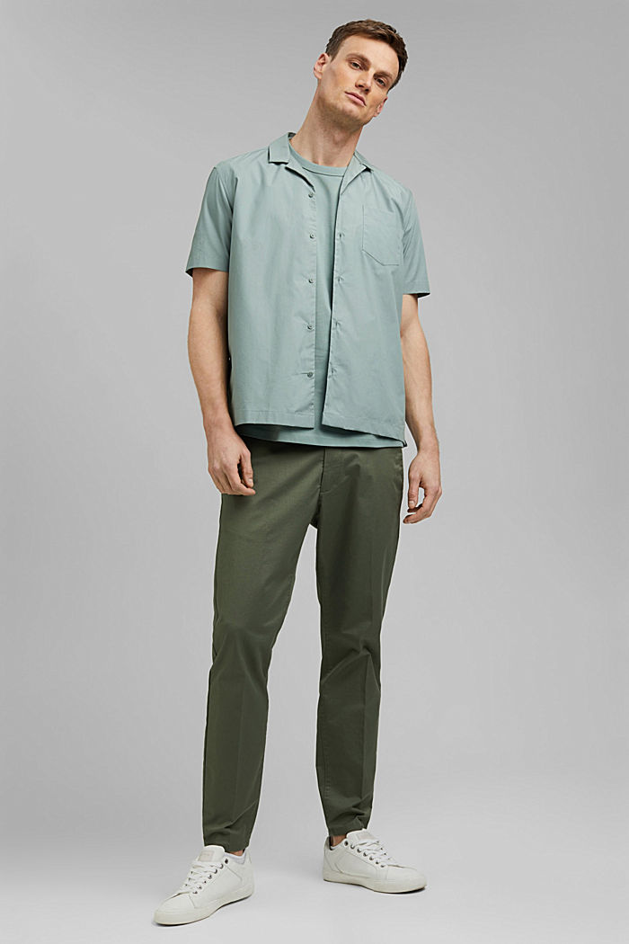 Premium Piqué-T-Shirt, 100% Bio-Baumwolle, DUSTY GREEN, detail image number 2