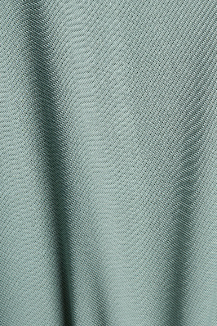 Premium Piqué-T-Shirt, 100% Bio-Baumwolle, DUSTY GREEN, detail image number 4