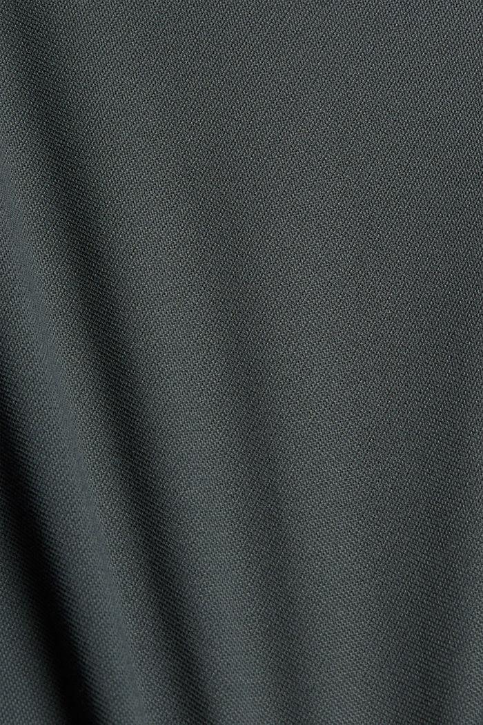Hoogwaardig piqué T-shirt, 100% biologisch katoen, DARK TEAL GREEN, detail image number 4