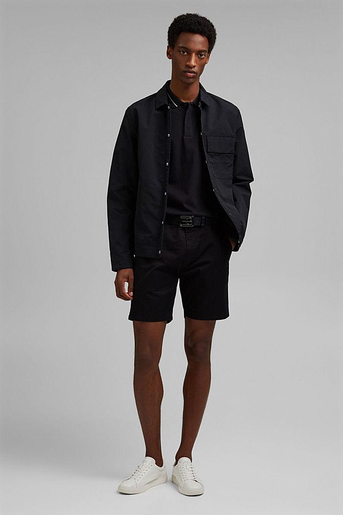 Piqué polo shirt in 100% organic cotton, BLACK, detail image number 2