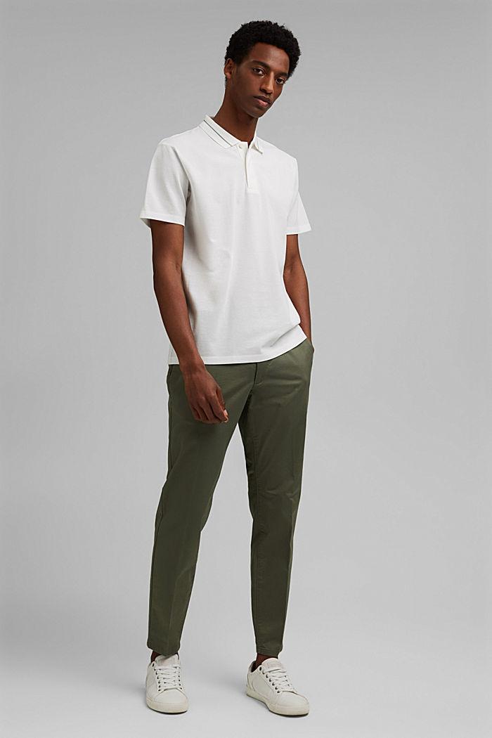 Koszulka polo z piki, 100% bawełny ekologicznej, OFF WHITE, detail image number 2