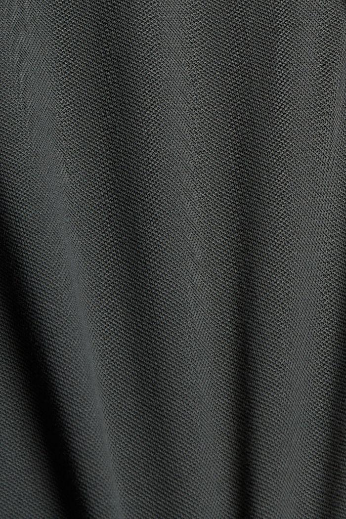 Polo de piqué en 100% algodón ecológico, DARK TEAL GREEN, detail image number 4