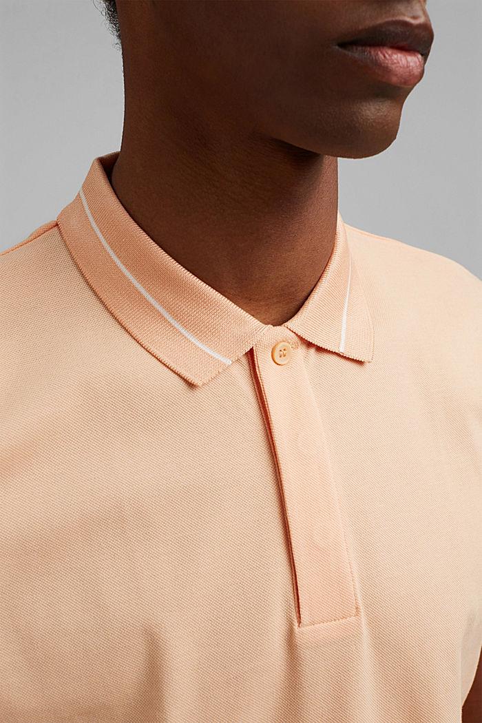 Piqué-Polo aus 100% Bio-Baumwolle, PEACH, detail image number 1