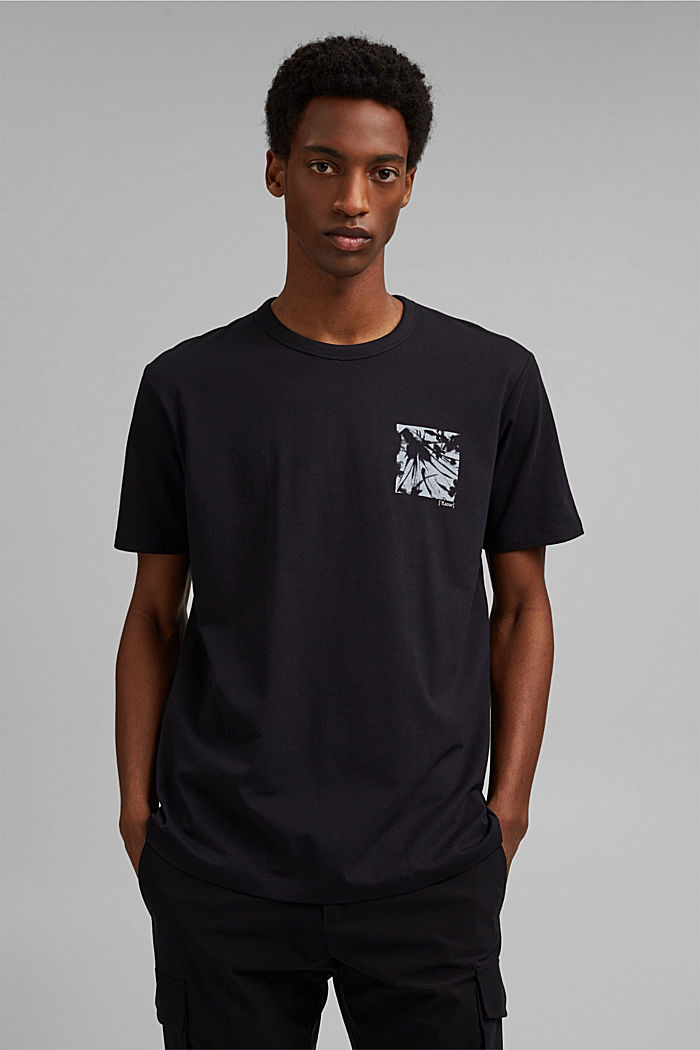 Jersey-T-Shirt mit COOLMAX®, Organic Cotton, BLACK, detail image number 0