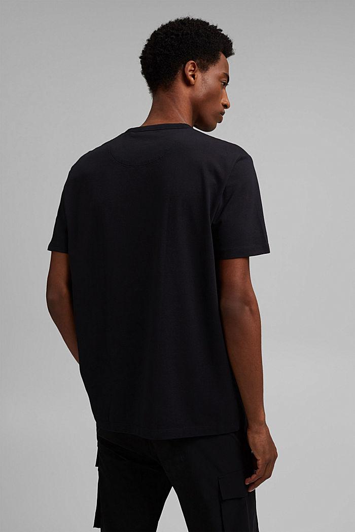 Jersey-T-Shirt mit COOLMAX®, Organic Cotton, BLACK, detail image number 3