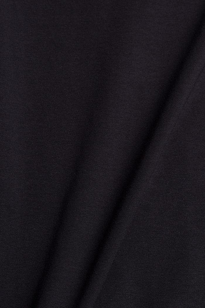 Jersey-T-Shirt mit COOLMAX®, Organic Cotton, BLACK, detail image number 4