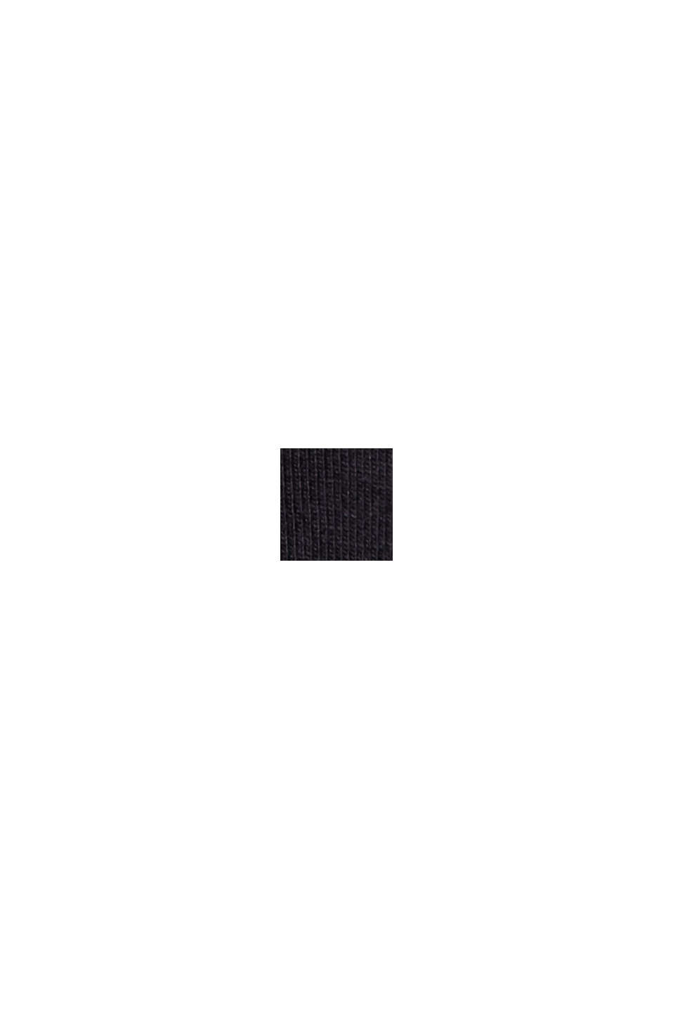 Jersey-T-Shirt mit COOLMAX®, Organic Cotton, BLACK, swatch