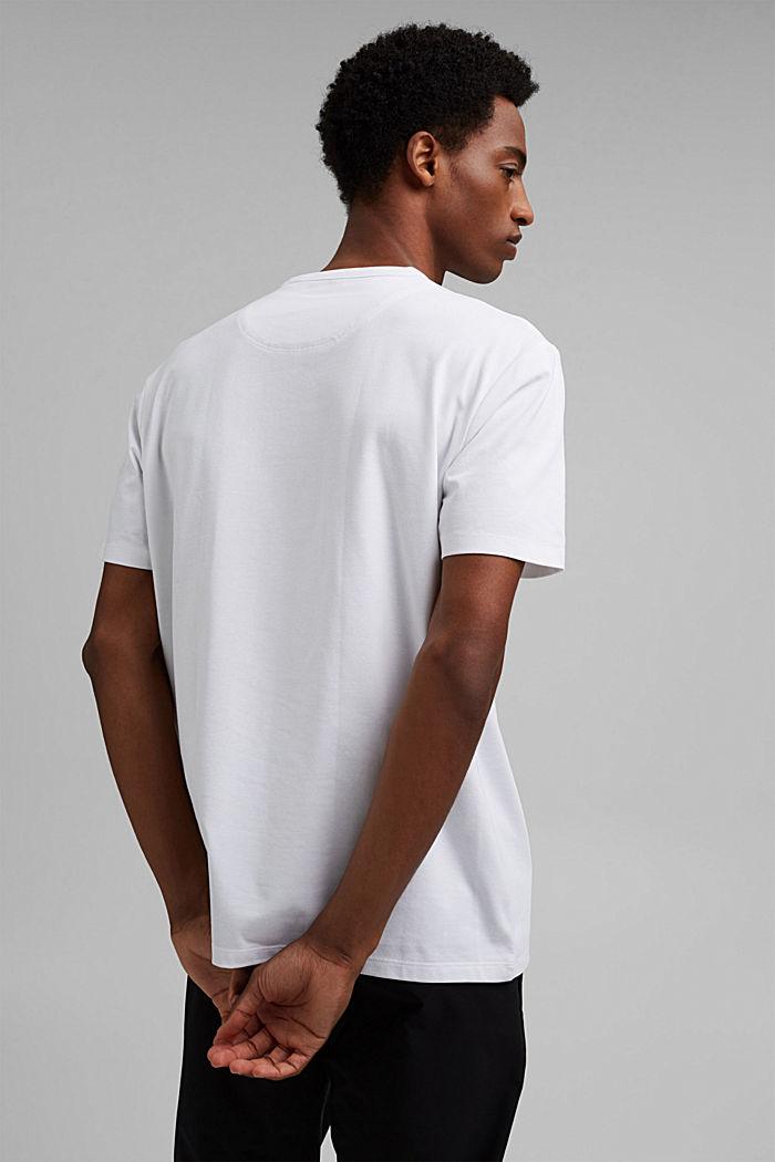 Jersey-t-paita, jossa COOLMAX®-kuitua, luomupuuvillaa, WHITE, detail image number 3