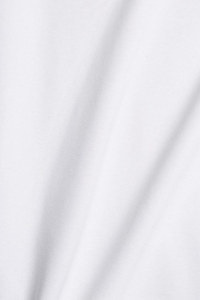 Jersey-t-paita, jossa COOLMAX®-kuitua, luomupuuvillaa, WHITE, detail image number 4