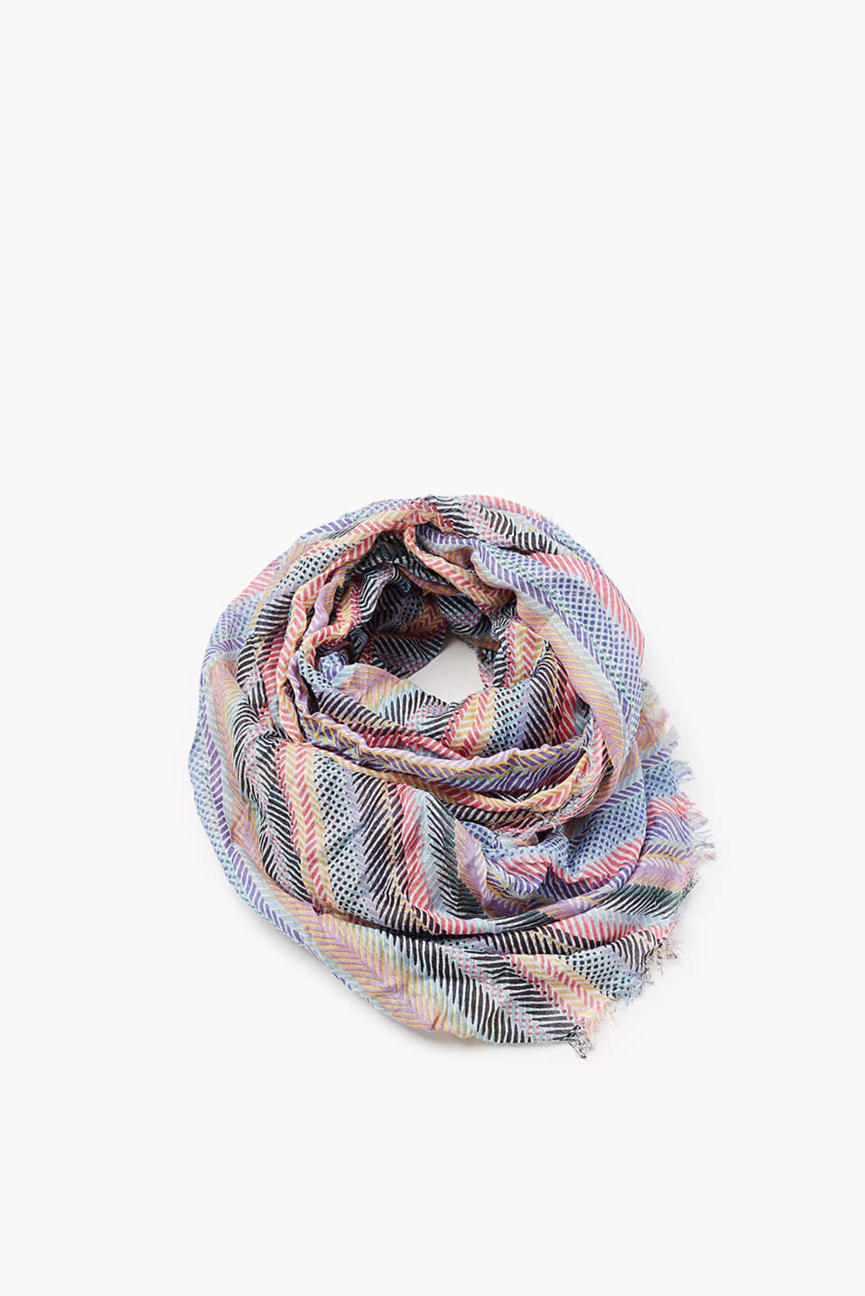 edc - Multi-colour scarf with a silky sheen