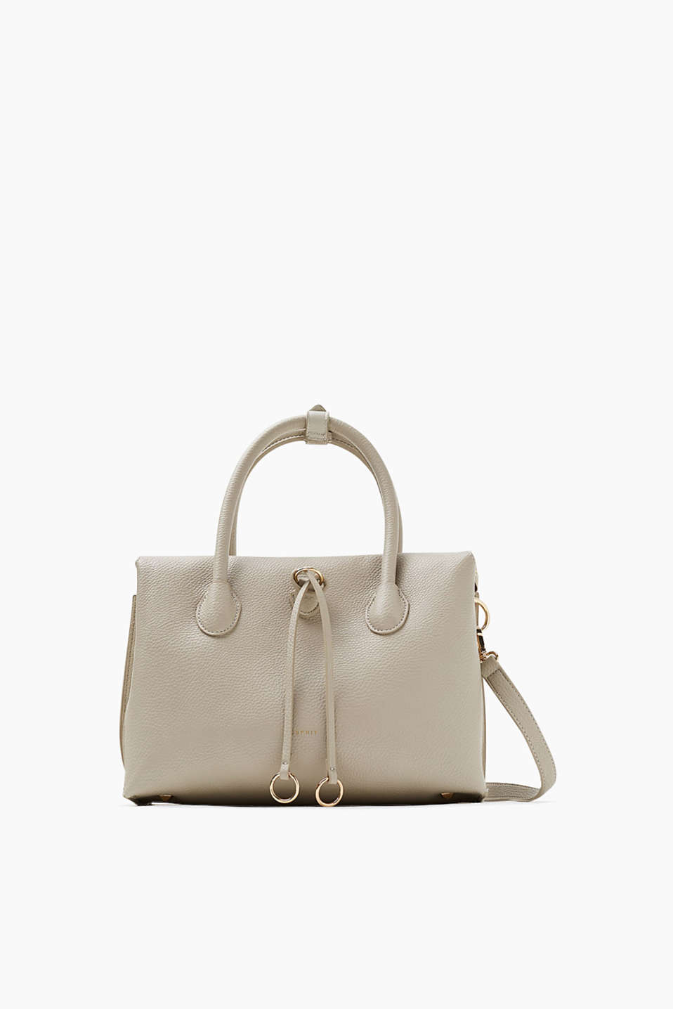 Esprit - City-Bag in softer, genarbter Leder-Optik