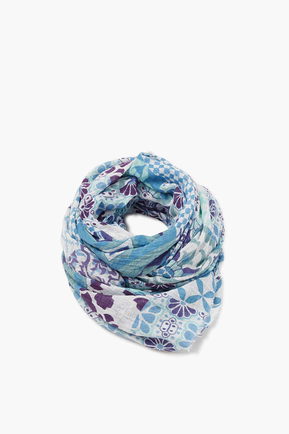 Esprit - Oversized scarf in 100% cotton