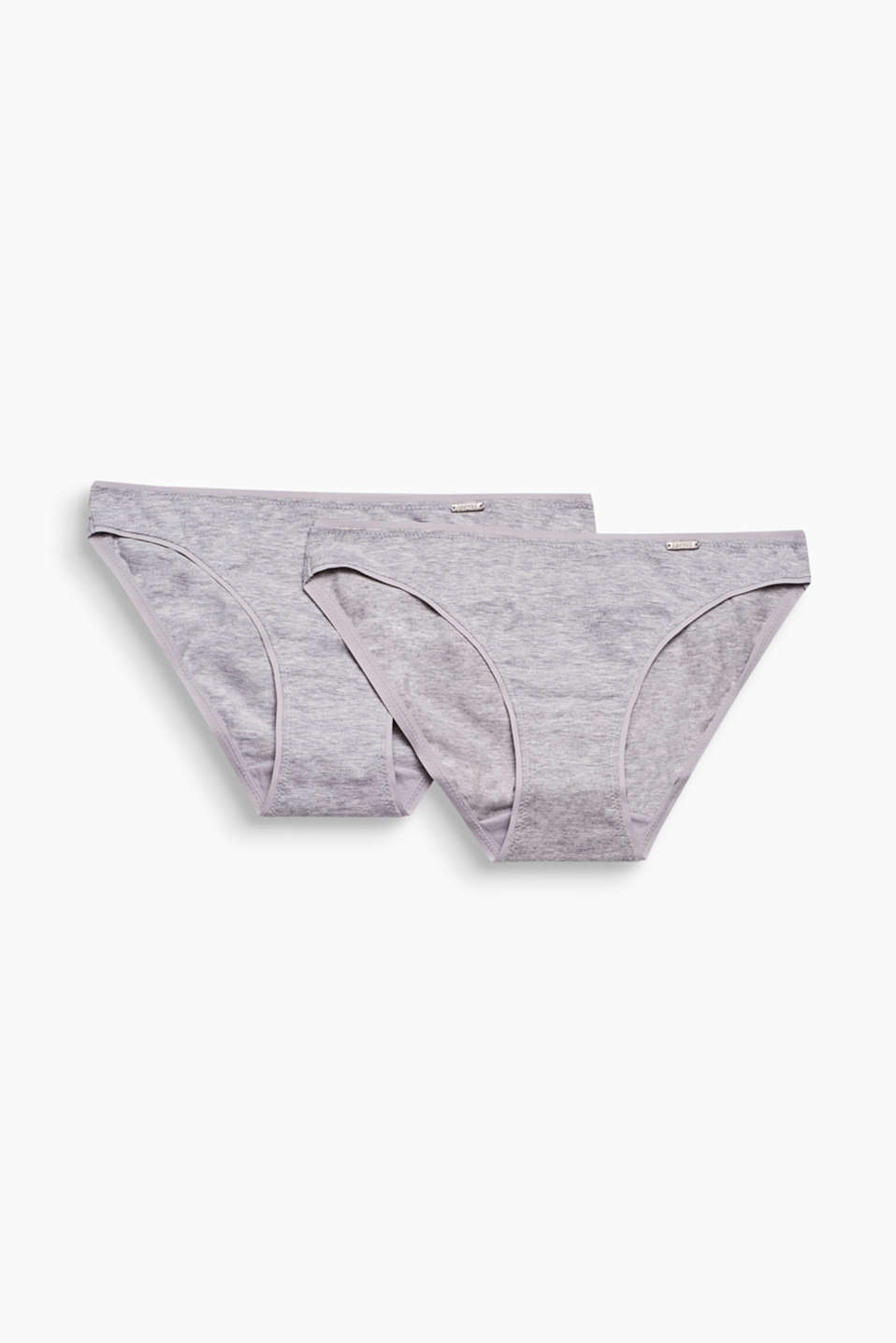 Collection: BROOME - hipster briefs in melange cotton jersey with added stretch for comfort