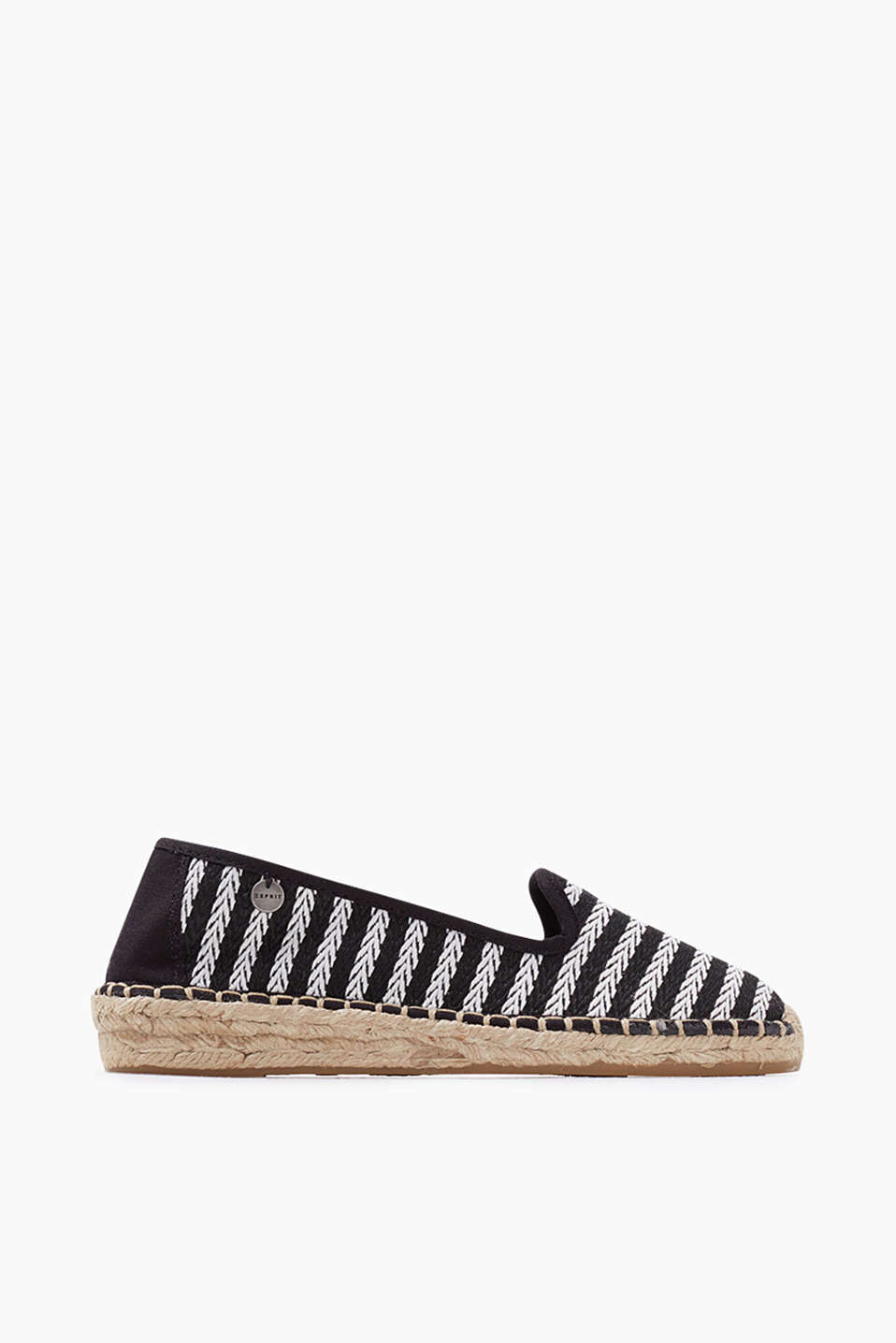 Espadrilles in a summery look with a rubber-coated bast sole