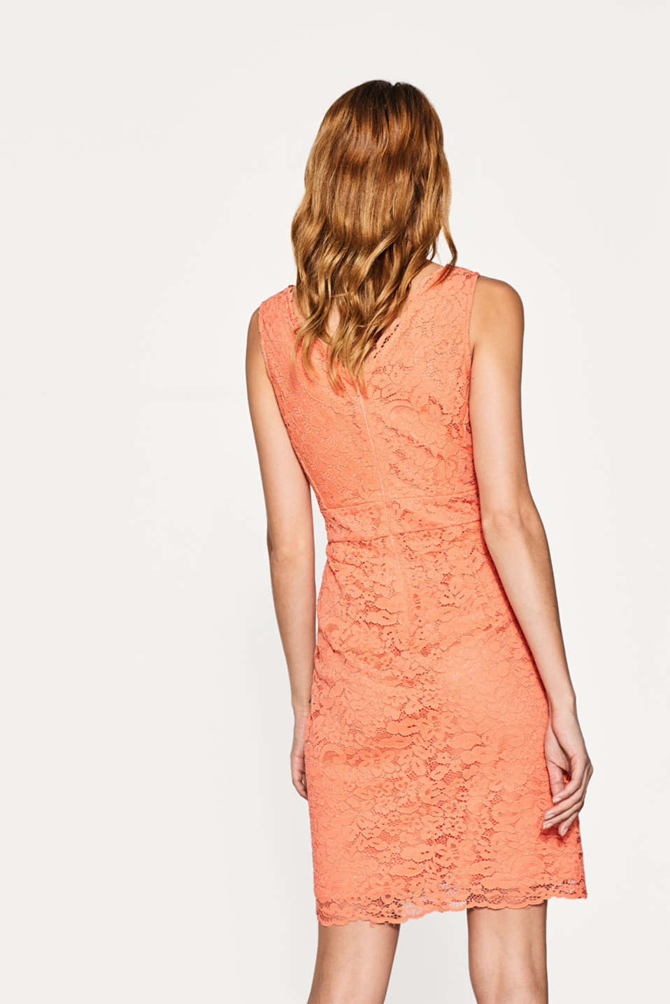 Lace dress with a double V-neckline