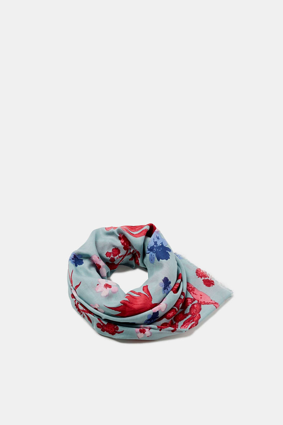 edc - Smoothly woven scarf with a floral pattern