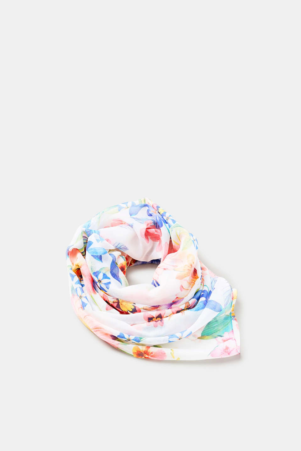 edc - Lightweight scarf with a floral pattern