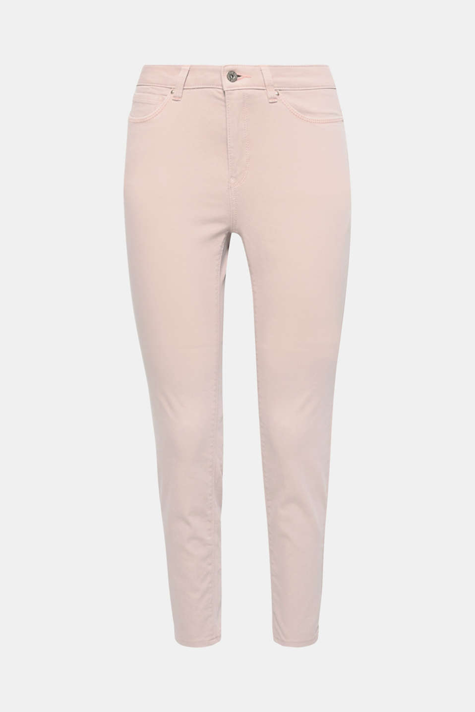 These stretchy cotton trousers in a trendy ankle length are an essential basic.