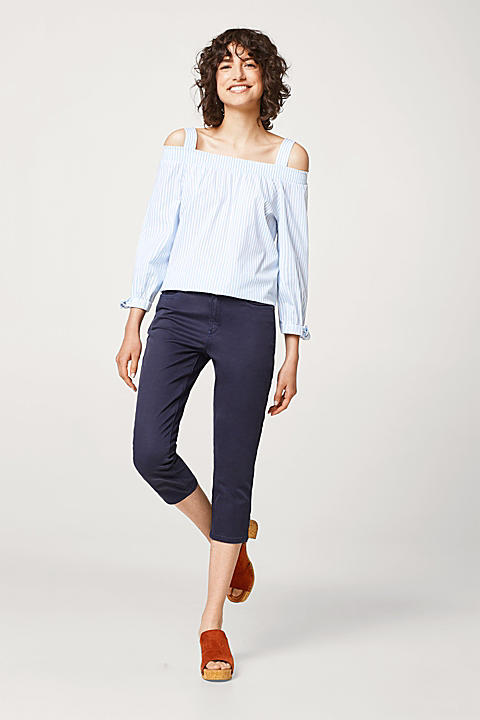 Capri Pants aus Baumwolle mit Stretchkomfort