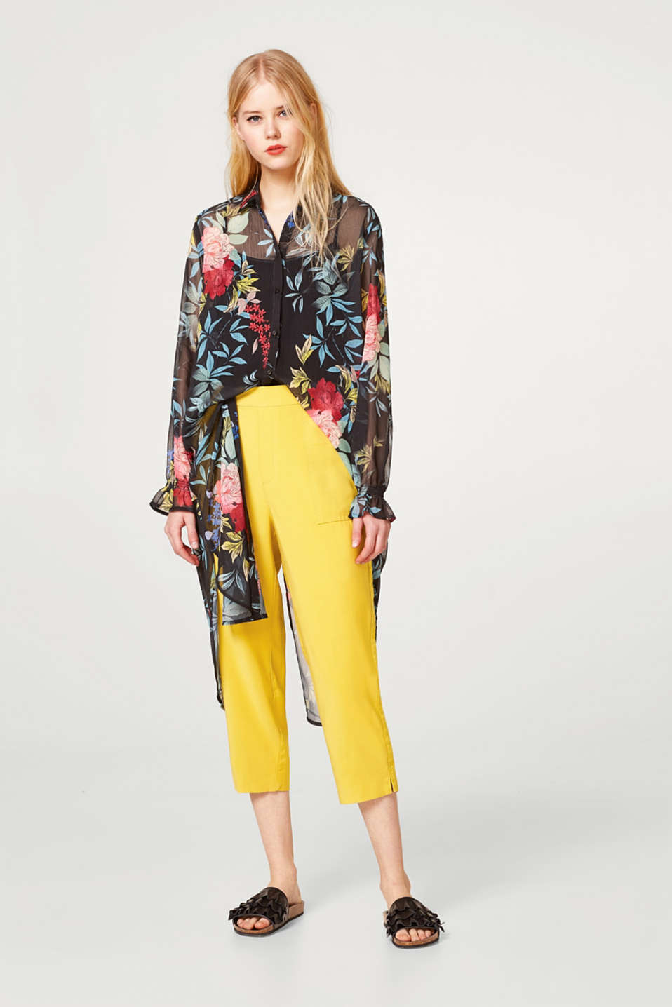 Culottes with lyocell, stretchy waist