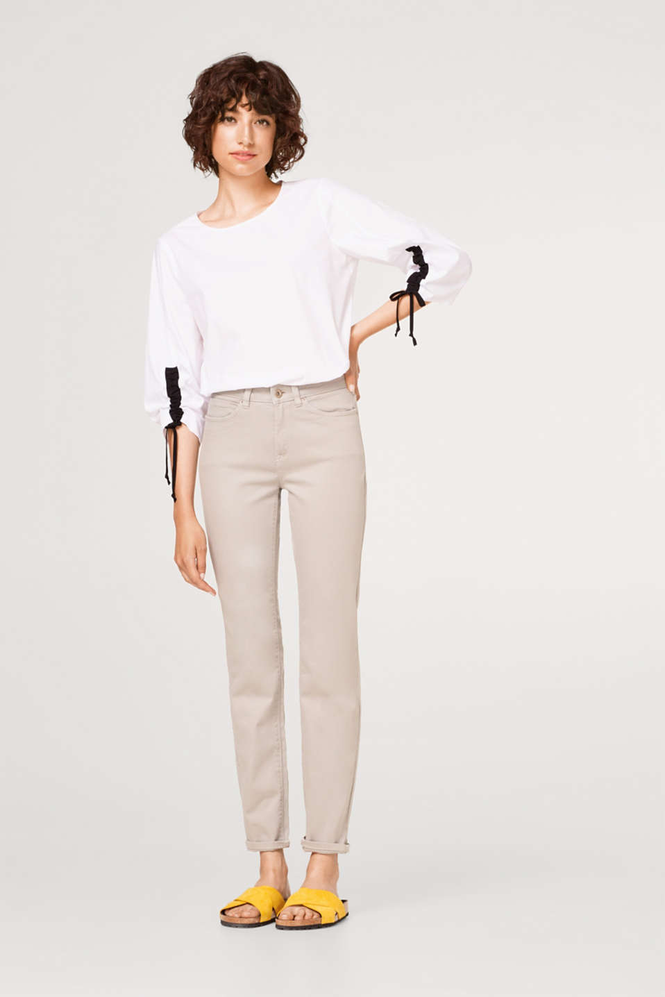 edc - Basic stretch cotton trousers